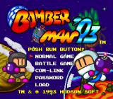 Bomberman '93 TurboGrafx-16 Title/Options