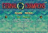 Eternal Champions Genesis Main menu
