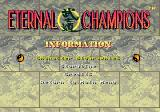 Eternal Champions Genesis Wow, lots of information!