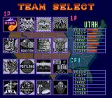 Double Dribble: The Playoff Edition Genesis Team select