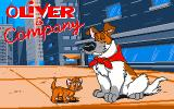 Oliver & Company DOS Title screen