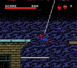 Spider-Man / X-Men: Arcade's Revenge SNES Spiderman swinging