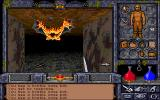 Ultima Underworld II: Labyrinth of Worlds DOS The first battle: Avatar vs. lowly bat 1:0