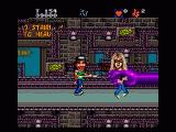 Wayne's World Genesis Garth is grabbed by the purple hand at the end of each level.