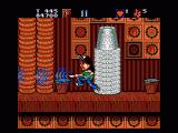 Wayne's World Genesis Large attacking waves with a power-up