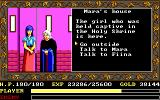 Ys: The Vanished Omens DOS Visiting the rescued girl (EGA/Tandy)