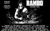 Rambo: First Blood Part II DOS Rambo CGA Title Screen