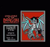Challenge of the Dragon NES Title Screen