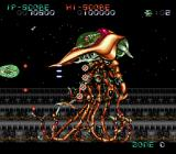Super Nova SNES Dodging bullets from a large enemy